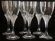 6 verres à vin rouge en cristal d'Arques modèle Granville