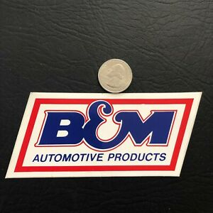NICE B & M AUTO PRODUCTS COAL MINING STICKER DECAL RARE VINTAGE