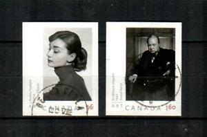 CANADA Scott's 2272-73 ( 2v ) Hepburn, Churchill Photos F/VF Used ( 2008 ) #2