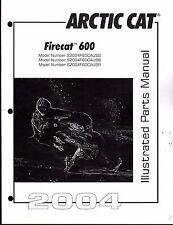 2004  ARCTIC CAT SNOWMOBILE FIRECAT 600 PARTS MANUAL P/N 2256-897 (569)