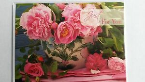 Beautiful Pink Roses Birthday Card just for you birthday card