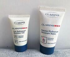 Clarins Men Moisture Gel 12ml + Moisture Balm 30ml Set, Men's Skincare Brand New