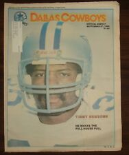 DALLAS COWBOYS WEEKLY~9/27/86~TIMMY NEWSOME COVER~ WITH CHEERLEADER CENTERFOLD