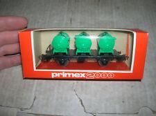 Märklin Primex 2000 4585 Behältertragwagen in grün H0 HO in OVP - SEHR RAR