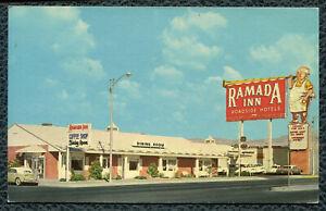 Albuquerque New Mexico nm Ramada Inn old chrome postcard.
