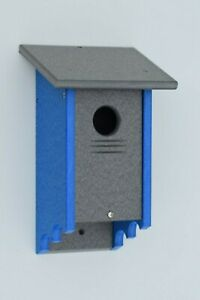 Poly Wood Bird House for Finches, Bluebirds and many other Birds