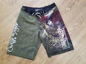 Affliction Samurai MMA Baggies Board Shorts Size 34