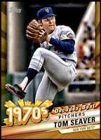 Tom Seaver 2020 Topps Decades Best 5x7 Gold #DB-33 /10 Mets