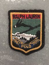 Ralph Lauren Ski Jump Patch Sewing 1967 POLO 1989 RARE Black Red Gold Green