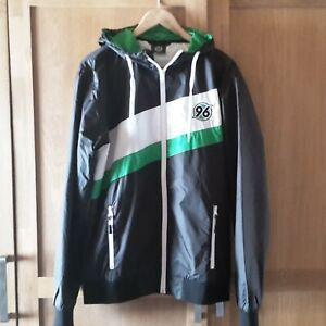 Hannover 96® Jacke black M | NEU – Logo Windbreaker Trainings-Jacke schwarz NEW