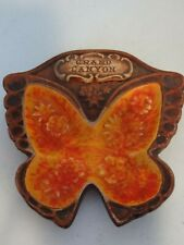 Tobacciana Vintage Ashtray~Grand Canyon~Souvenir Butterfly Made By Treasure