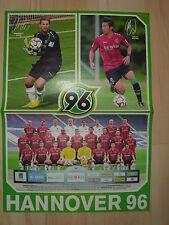 Poster  Hannover 96/FC Augsburg  aus der Bravo Sport  Gr. ca 42 cm x 30 cm