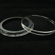 100 Airtite Coin Capsule Holders Black Rings for 1oz Silver / Copper Rounds 39mm
