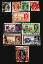 India King George VI 1937/40 pt set x VFU stamps LH