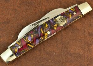 BULLDOG BRAND SOLINGEN GERMANY CELLULOID 4 BLADE CONGRESS KNIFE NICE 1995 (8478)