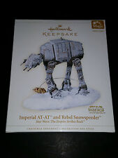 Star Wars HALLMARK At-At Empire Snowspeeder HOTH Light CHRISTMAS Luke Ornament
