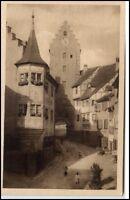 Meersburg am Bodensee alte Postkarte um 1920/30 Straßenpartie an oberen Tor
