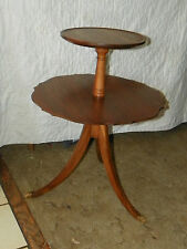 Solid Walnut 2 Tier End Table / Dumbwaiter Table  (T297)