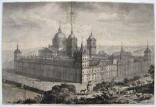 El Escorial madrid tomás lópez Enguídanos grabado 1795 alle gesehen alto de Romeral