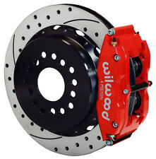 """WILWOOD DISC BRAKE KIT,REAR PARKING,BIG FORD NEW,2.50"""",13"""" DRILLED ROTORS,RED"""