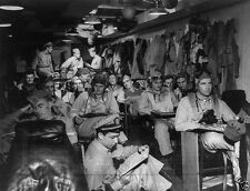 US Navy Fighter Pilots in Ready Room Pacific 1945 8x10 World War II WW2 Photo