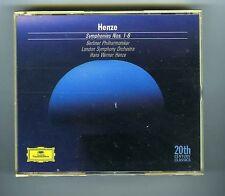 2 CDs (NEW) HANS WERNER HENZE SYMPHONIES # 1-6 (DG 20th CENTURY)
