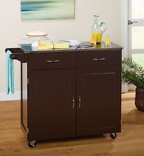 NEW Target Marketing Systems 60047ESP Kitchen Cart, Large, Espresso/Natural