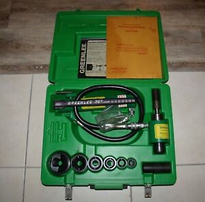 Greenlee 7306 Hydraulic Knock Out Punch Driver Set