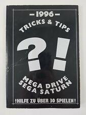 SEGA MEGA DRIVE & SATURN   TRICKS & TIPS   1996   Heft, Buch, Anleitung