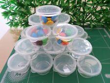 24 Pcs/Set 0.70 oz Bowl Basin lid Round Plastic Clear Container Jam Favor Snack