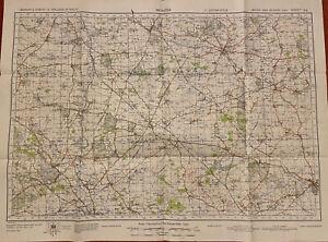 Map of Bicester WW2, WAR REVISION 1940 Ordnance Survey Sheet #94 Oxford