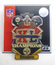 Pittsburgh Steelers Med Super Bowl XL Champions Football Pin - Seattle Seahawks