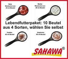 Sahawa® Lebendfutter Wasserflöhe Daphnien Weiße Mücken Rote Mücken Tubifex