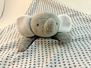 Carters Just One You Gray White Triangles Elephant Plush Baby Security Lovey