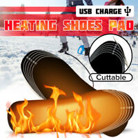 Electric Heated Shoe Insoles Warm Sock Feet Heater USB Foot Winter Warmer Pad