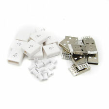 10PCS Male USB Connector USB 2.0 Plug Adapter Kit Type-A 5P DIY Components