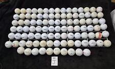 Lot of 100 Mixed Wilson Used White Golf Balls lot J