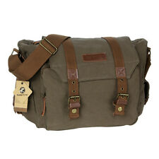 Vintage Canvas DSLR Camera Bag Insert Case Bag Shoulder Messenger Bag Travel Bag