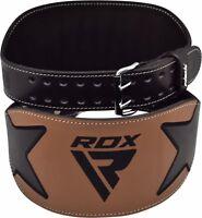 RDX Leather Gym Weight Lifting Belt Back Support Exercise Belt Fitness Training