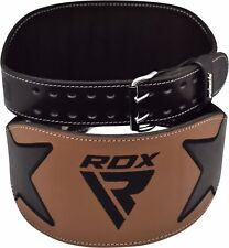 RDX Leather Gym Weight Lifting Belt Back Support Exercise Belt Fitness Training