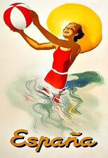 Travel Spain Espana  Vacation  Holiday  Poster Print