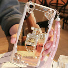 For Samsung A51 A71 A50 A11 A20 A30 Bling Glitter Crown Diamond Mirror Ring Case