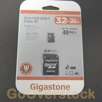 Micro SD HC Memory Card 32GB - Class 10 - Gigastone Mobile UHS-1  SDHC - NEW