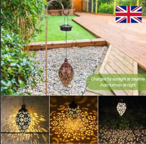 Solar Lantern_Hanging Light LED Yard Outdoor Garden Lamp Retro Decor Waterproof_