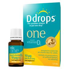 Ddrops One Vitamin D3, 10 µg ( 400 IU ), 60 drops