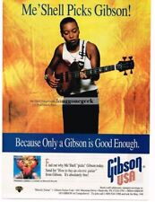 1995 Gibson Les Paul Deluxe Bass Guitar Me' Shell NdegeOcello Magazine Ad