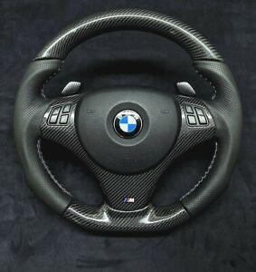 Carbon Fibre M1 M3 Custom Made Flat Bottom Steering Wheel E82 E84 E90 E92 E93