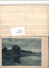 520406,Künstler AK Hugo Darnaut Abendstille Landschaft Teich