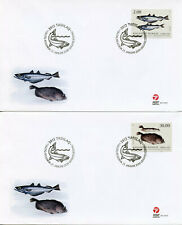More details for greenland fish stamps 2019 fdc fishes withing plaice part ii 2v 2x fdc
