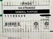 Honeywell Genesis 1119 18/4C Communication Cable Wire UV Resistant Gray /100ft
